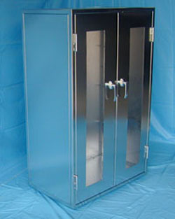 Smw industrial custom stainless steel cabinets company in for Custom stainless steel cabinet doors